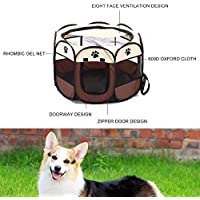 Deasengmine Foldable Design Breathabe Pets Dogs House Tent Easy Operation Octagonal Fence Pets Cage Outdoor Pets Accessories