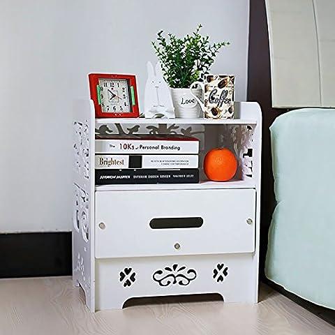 Yoifo Blanc de stockage de table avec tiroirs et porte magazine Rack Style shabby chic Blanc pour le salon Petite table à thé café à côté d'extrémité de support de table meubles de maison étagère pour bureau, salle de lit