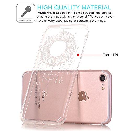 JIAXIUFEN TPU Gel Silicone Protettivo Skin Custodia Protettiva Shell Case Cover Per Apple iPhone 7 (2016) / iPhone 8 (2017) - Fiore Floreale Design Rose Flower Floral Necklace