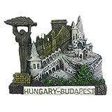 Imán para nevera, diseño de Budapest de Hungría, resina 3D, hecho a mano, para turismo, viajes, ciudad, recuerdo, colección