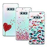 Young & Ming Cover Compatibile con Galaxy S10e, [3 Pack] Trasparente La Protezione Superiore Leggero Sottile Silicone Premium TPU Case, Amore