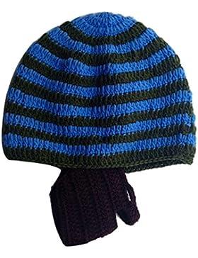 Beetest Bambino Bambini Inverno Caldo maglia Lana Striscia Staccabile Barba Cappelli Berretti, Colore E
