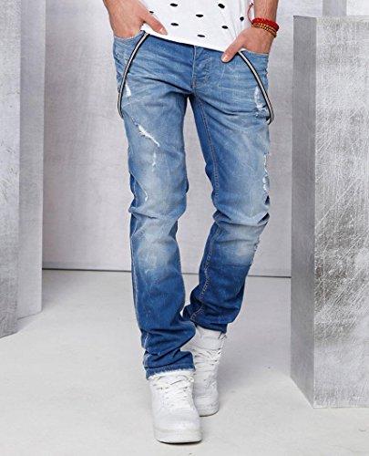 Red Bridge Herren Destroyed Jeans Pant Blau Standard