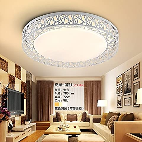 DKRFJ Lampada da soffitto luci soggiorno moderno minimalista illuminazione camera da letto ,52*52 3 piazza la temperatura del colore