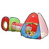 SIMPVALE Enfants Maisons et Tentes de jardin plein air Tente de Jeu pour Maison et Tunnel(sans Boules)
