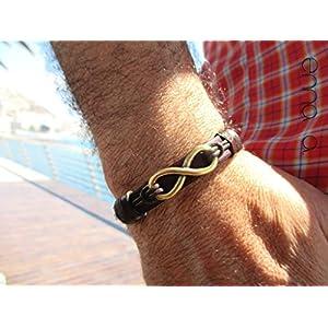braun Armband, Altgold Unendlichkeit.