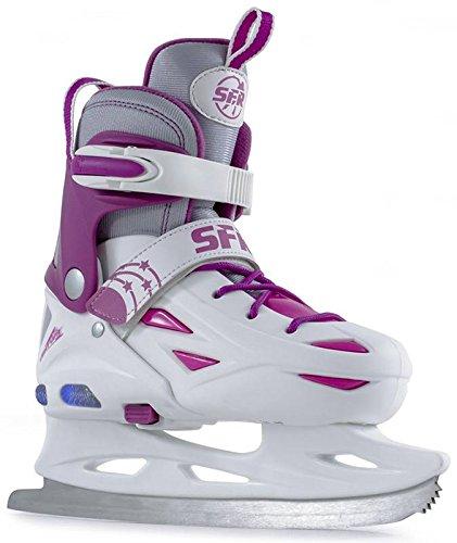 SFR Ice Skates Eclipse Light Up verstellbare Schlittschuhe weiß Kinder white-pink, 35.5 - 39.5
