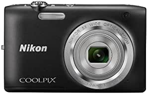 Nikon Coolpix S2800 20.1 MP Point and Shoot Camera (Black) with 5x Optical Zoom, Memory Card and Camera Case