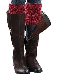 Vellette calentador de pierna Mujer calcetines de punto el¨¢stico cubierta de boot Calentador