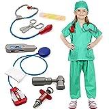 Bascolor Medico Costume Bambino Chirurgo Accessori Dottore Travestimento Medico Costume di Ruolo Bambini per Natale Halloween Festa Carnevale 10 Pezzi …