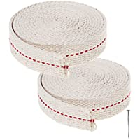 Ruix 2 Mètres Coton Mèche de Lampe, Mèches de Rechange Lanterne Mèches Pour Brûleurs Lampes à Huile ( Blanc )