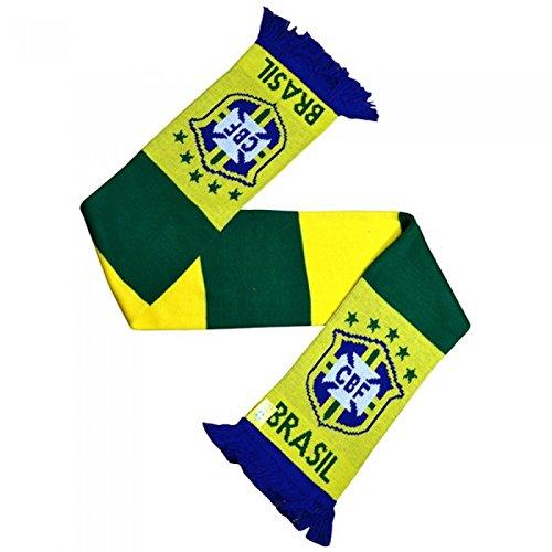 Brasil CBF – Bufanda de punto oficial de la selección brasileña con diseño del Escudo
