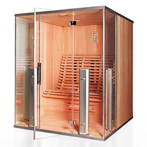 """Infrarotkabine\""""Argos II\"""",2-3 Personen, rotes Zedernholz, Wärmekabine, Sauna, Infrarotsauna, Infrarotwärmekabine"""