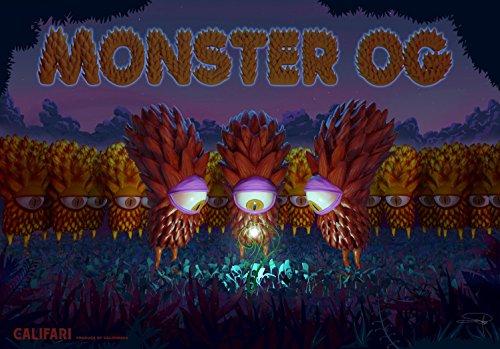 Monster OG Full Color Sorte Art Poster mit berühmten Topf, Weed, Marihuana, Ganja aus Aller Welt 13x 19Druckvorlage von Drucken