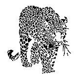 Lyclff Ghepardi Animali Leopardi Adesivo Sticker Adesivi Soggiorno Vinile Smontabile Colore Nero Largo 60 Cm Alto 60 Cm