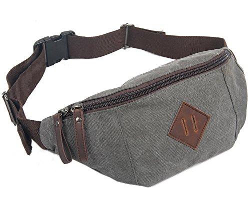 Everdoss Unisexe sac de poitrine en toile sac banane sac de téléphone portable sacoche sac de sport sac de loisirs