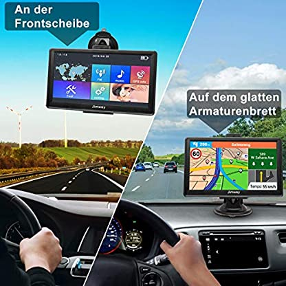 GPS-Navi-Navigation-fr-Auto-LKW-Navigationsgert-PKW-Navigationssystem-7-Zoll-16GB-Lebenslang-Kostenloses-Kartenupdate-mit-POI-Blitzerwarnung-Sprachfhrung-Fahrspurassistent-2019-Europa-UK-52-Karten