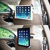 BESTEK Tablet Kopfstützenhalter,universal Tablet Kfz Auto Halterung an der Kopfstütze für Rücksitz, passt zu 9.5 - 14.5 Zoll Tabletten und andere Geräte, Schwarz