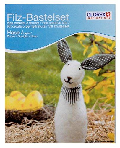 Glorex GmbH 6 2905 907 – Filz-Creativ-Set Hase creme