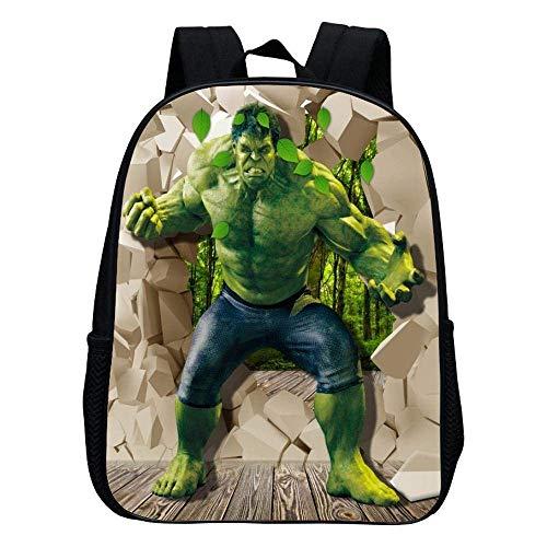 BOBO Mochila escolar para niños, Hulk Giant/Captain America/Iron Man Kindergarten School Cartoon Mochila Adecuada para 2-6 años (12 pulgadas) al aire libre/A / 30 * 24 * 12 cm
