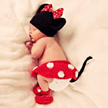 Newborn Infant Baby Boy Girl Knit Crochet Costume Photo Photography Prop Outfit