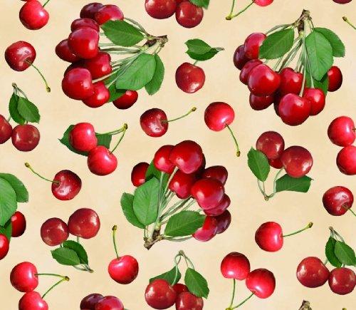 Fat Quarter Berry gut (Kirsche), Baumwolle, 50 x 55 cm -