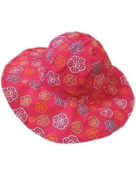 Sombrero de Niña Summer Sun Hat Sombrero de Boonie de Algodón Plegable