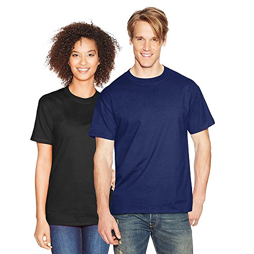 Hanes Mens Beefy-T Born to Be Worn 100% Cotton T-Shirt Navy