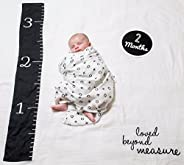 lulujo Baby's First Year Milestone Blanket and Card Set | 40in x 40in| Baby Shower Gift | Loved Beyond Measure
