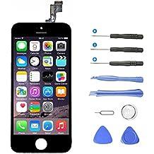 Aidee Pantalla Táctil LCD para iPhone 5S (4,0 pulgadas), [Pantalla LCD Pantalla Táctil de Repuesto] [Herramientas completas de Reparación] Pantalla LCD para iPhone 5S - Color Negro