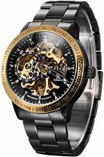 Alienwork IK Automatic Watch Self-winding Skeleton Mechanical Stainless Steel black black 98226-06