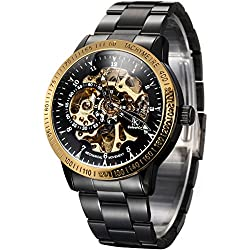 Alienwork IK Automatic Watch Self-winding Skeleton Mechanical Stainless Steel black black 98226-06