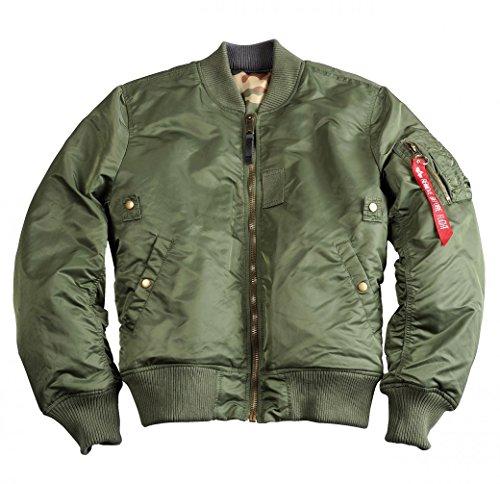 "Alpha Industries Herren Fliegerjacke ""MA-1 VF REV II"" sage green Sage Green"