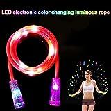 Zreal Leuchtseil / LED-Springseil, für Kinder geeignet, mit Blinklicht und Bühneneffekt, toll für Übungen im Dunkeln
