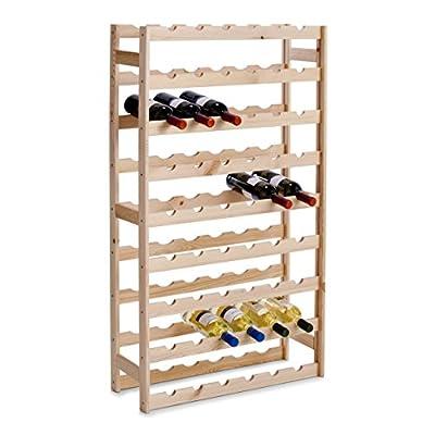 Zeller 13165 Bottle Shelf for 54 Bottles Pine 67.5 x 25 x 118 cm - cheap UK light shop.
