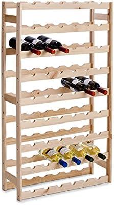 Zeller 13165 - Botellero para 54 botellas (67,5 x 25 x 118 cm), madera de pino