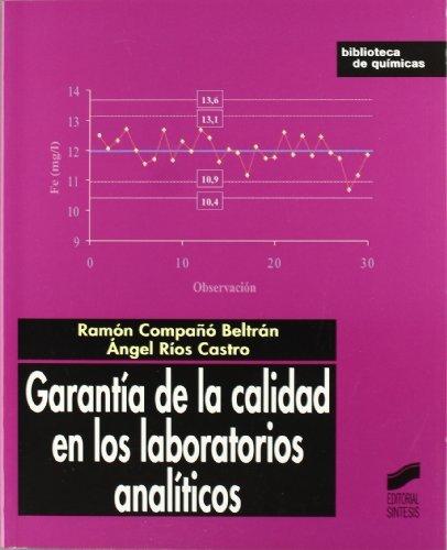 Garantía de la calidad en los laboratorios analíticos (Biblioteca de químicas) por R./Ríos, A. Compañó
