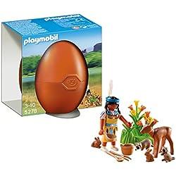 Playmobil Huevos - Nativa americana con animales del bosque (5278)