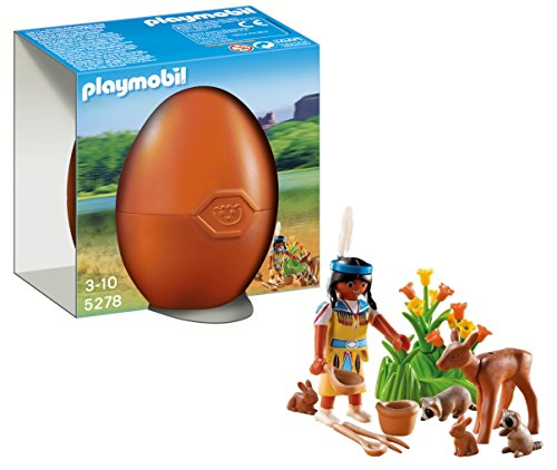 Playmobil Huevos - Nativa Americana Animales Bosque