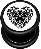 Best body jewelry Fake Diamonds - Pro-Piercing Fake Plug - Diamond Heart - Stainless Review