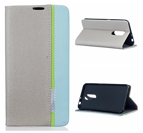 Voguecase® für ZTE Blade A910 hülle,(tricolor-Khaki) Kunstleder Tasche PU Schutzhülle Tasche Leder Brieftasche Hülle Case Cover + Gratis Universal Eingabestift