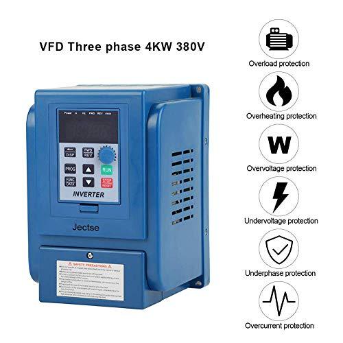 Frequenzumrichter,Jectse 380VAC 4kW 3-phasige PWM-Steuerung Wechselstrom VFD-Wechselrichter VFD Inverter Vektorregelung VFD Drehzahlregler