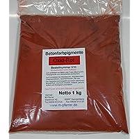 Pigmentpulver Oxid Rot 1kg, Eisenoxid Pigment Trockenfarbe Zementecht