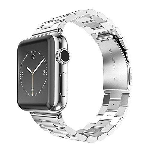 Preisvergleich Produktbild kokome Edelstahl Ersatz Smart Watch Band Wrist Strap Armband mit Schmetterling Apple iWatch Band (38mm, Remasuri)