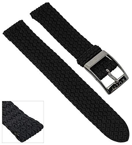 Orologio Bracciale Perlon Band | Cinturino di ricambio in due pezzi, nero...