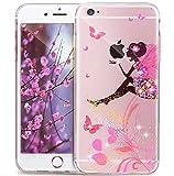 Coque iphone 6S,Coque iphone 6,Fleurs Pissenlit motif Diamant strass brillant Bling...