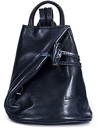 LiaTalia - Pequeña mochila para mujer de piel suave con bolsa protectora (Tamaño grande)