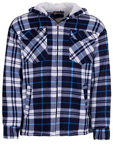 Hoang Textil GmbH Thermohemd Arbeitsjacke Herren Holzfäller Wärmeisolierend, Farbe:blau, Größe:XL