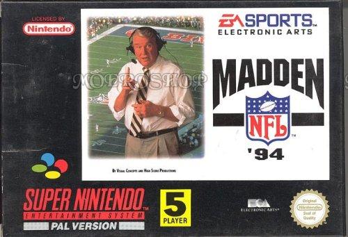 Madden NFL 94 - Super Nintendo - PAL