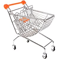 MagiDeal Mini Metal Shopping Cart Salesman Sample Kids Pretend Play Toy